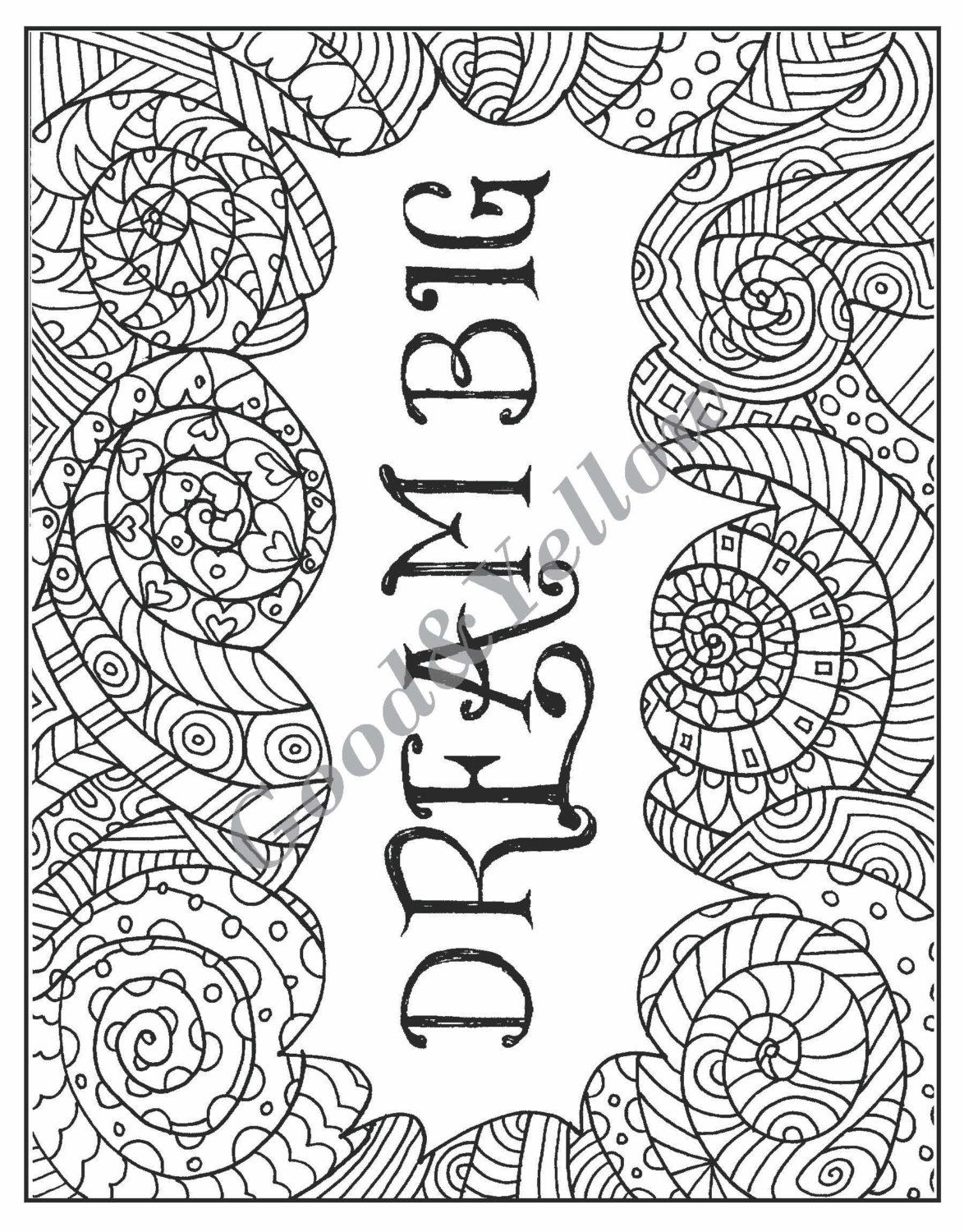 Adult Coloring Book Printable Instant Download 15
