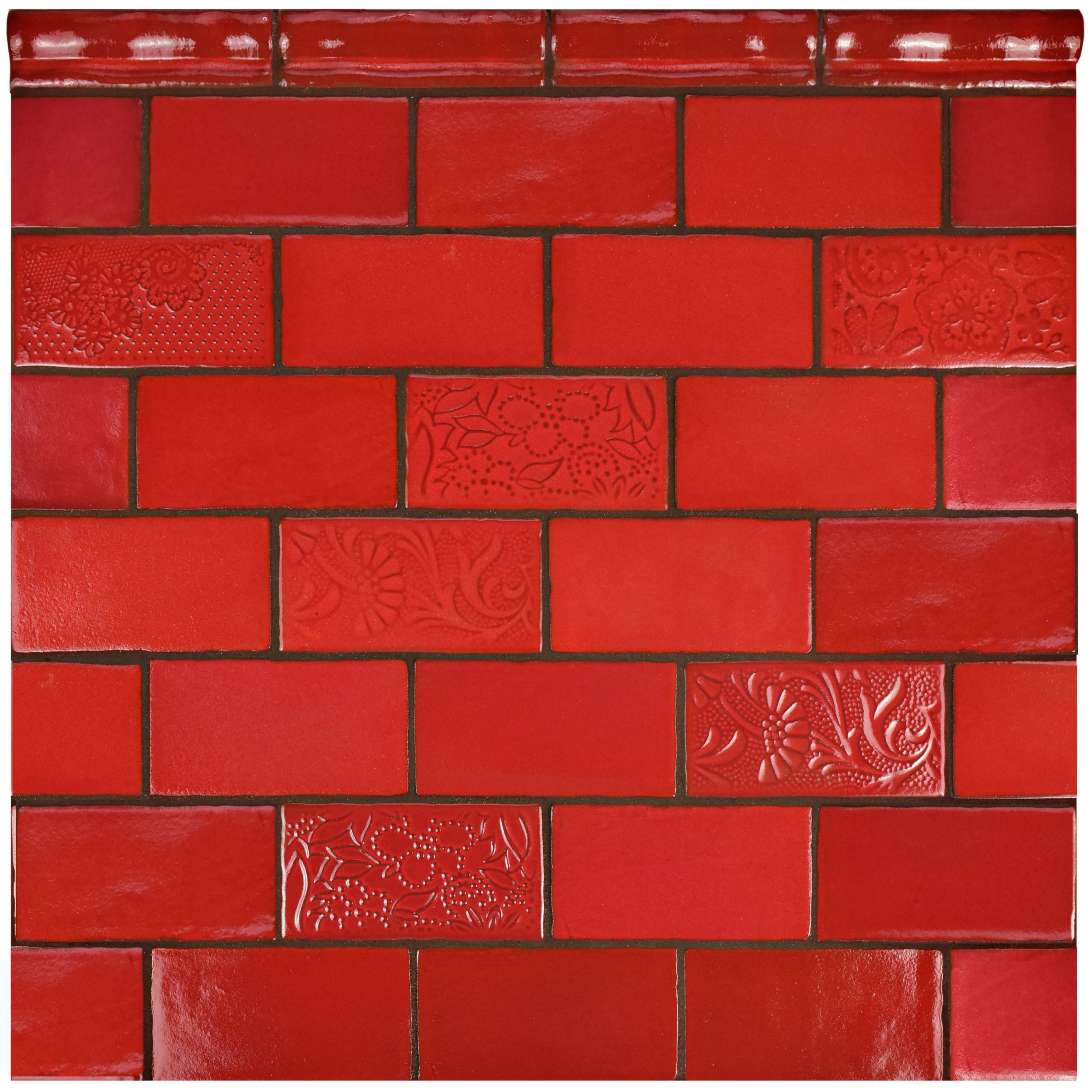 Antiqua 3 x 6 ceramic subway tile in feelings red moon red antiqua 3 x 6 ceramic subway tile in feelings red moon dailygadgetfo Choice Image