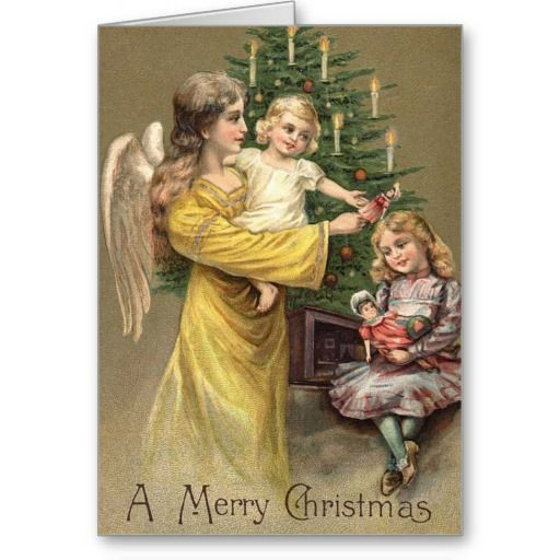 Angel Christmas Cards 2020 Victorian Angel Holiday Card | Zazzle.in 2020 | Victorian