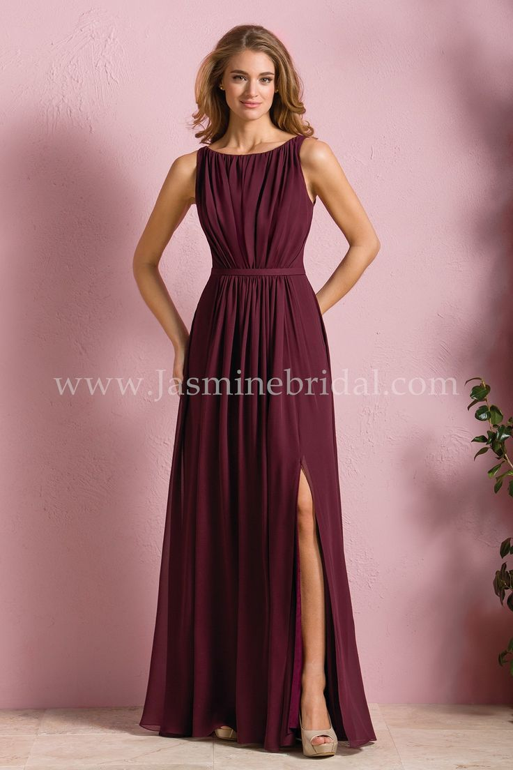 Jasmine Bridal Bridesmaid Dress B2 Style B173052 In Cranberry This Vestido Daminha De Honra Vestidos De Festa Para Senhoras Vestidos Longos De Dama De Honra