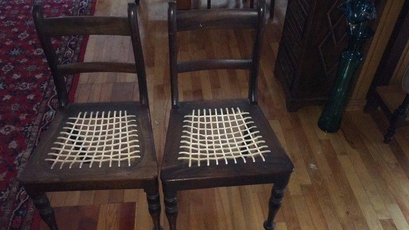 Stinkhout Riempies Mat Stoele Antiques For Sale Antiques Decor