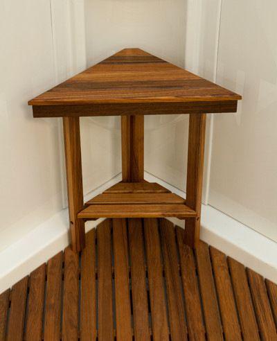 Teak Mini Corner Bench (17\