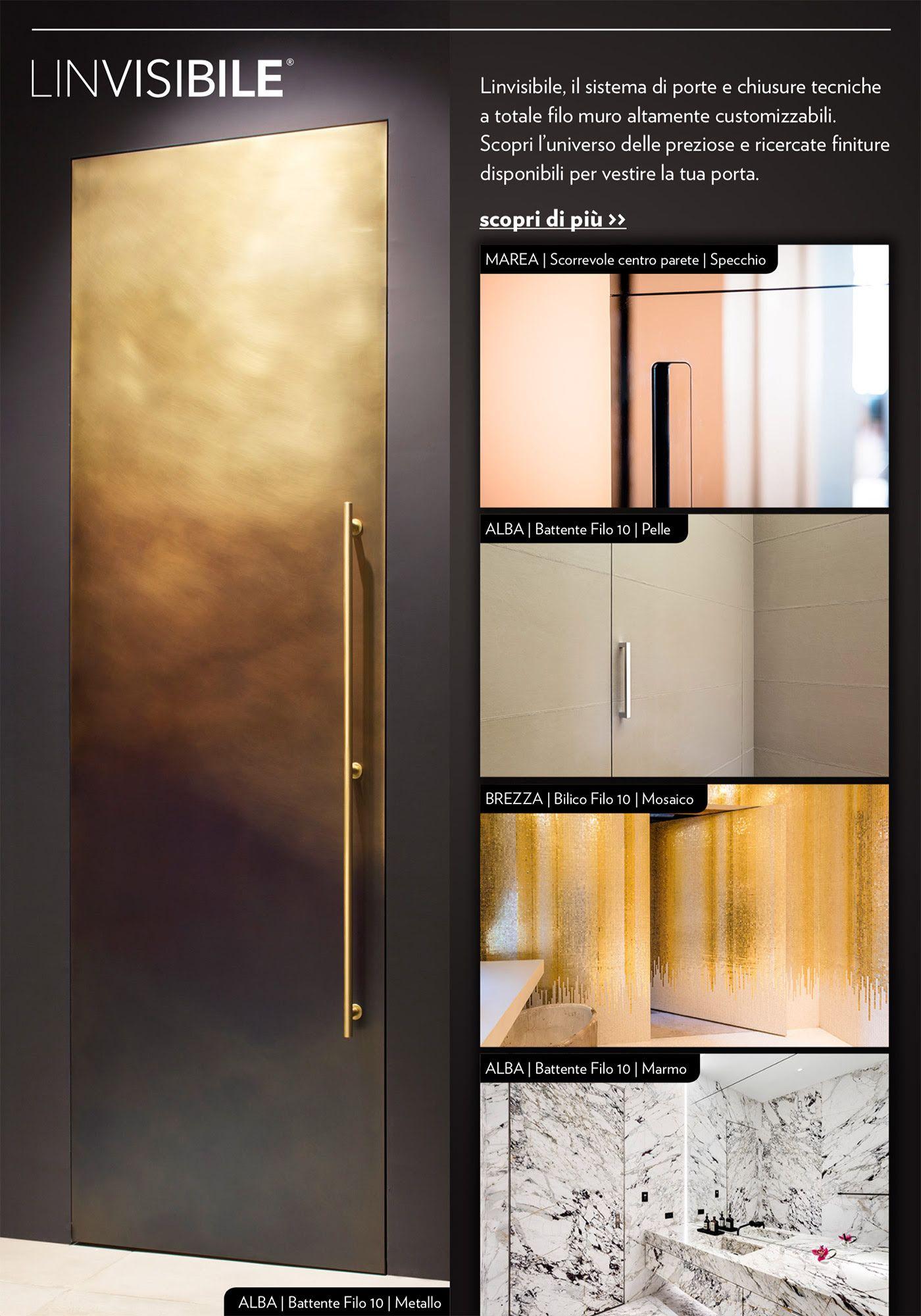 Porte Filo Muro Specchio pin di lorenzo marazzi su porta | battenti, muri, parete