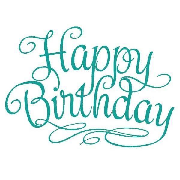 Happy Birthday In Writing