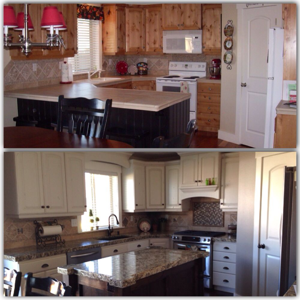 My before and after kitchen redo for the home pinterest Redo my kitchen