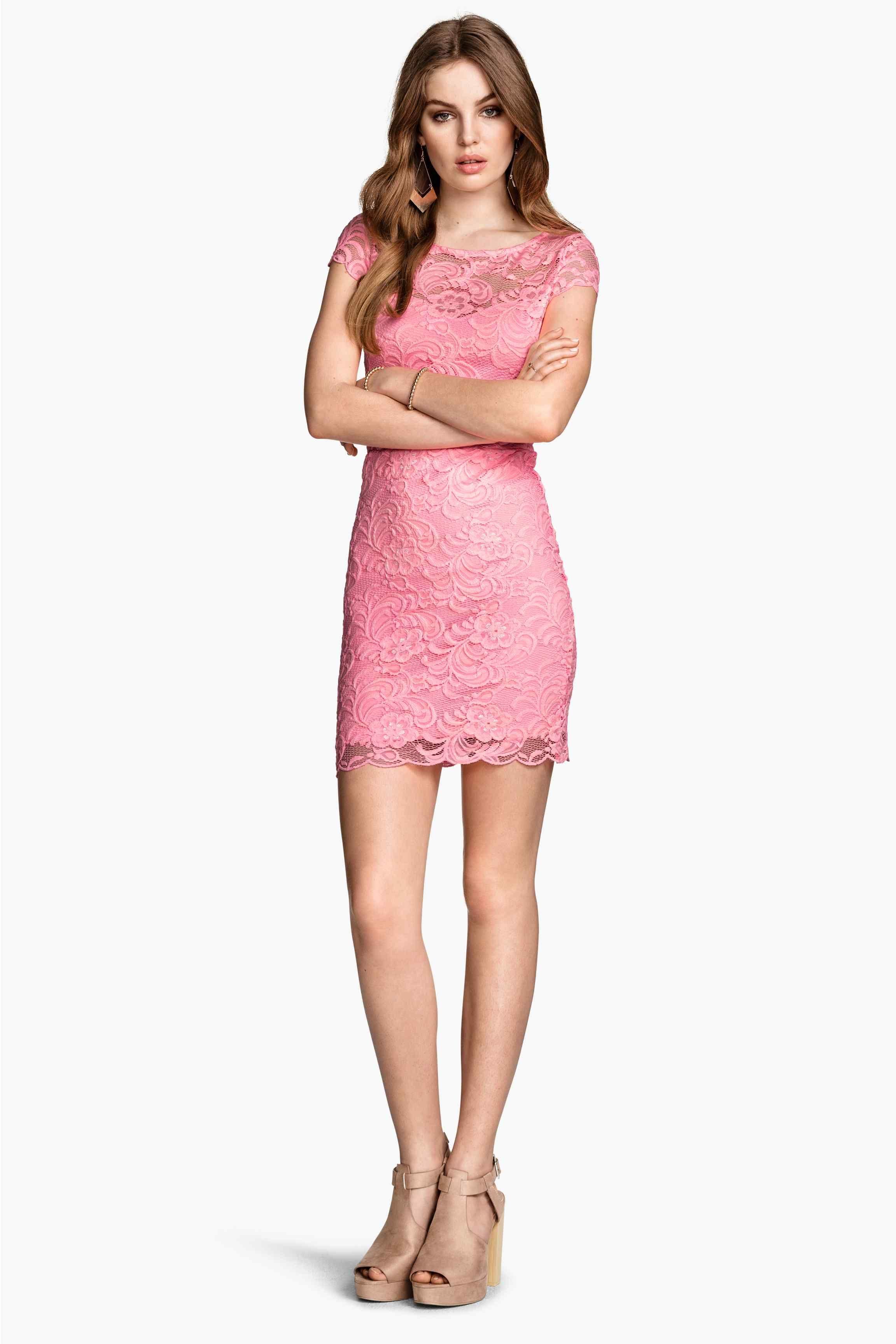 Vestido de encaje | H&M | dama | Pinterest | Vestidos de encaje, De ...