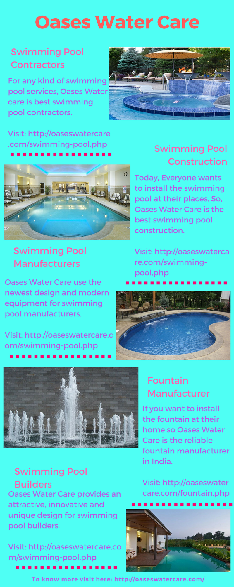 Oases Water Care Deal With Swimming Pool Contractors, Swimming Pool  Construction, Fountain Manufacturer, Swimming Pool Manufacturers Etc.