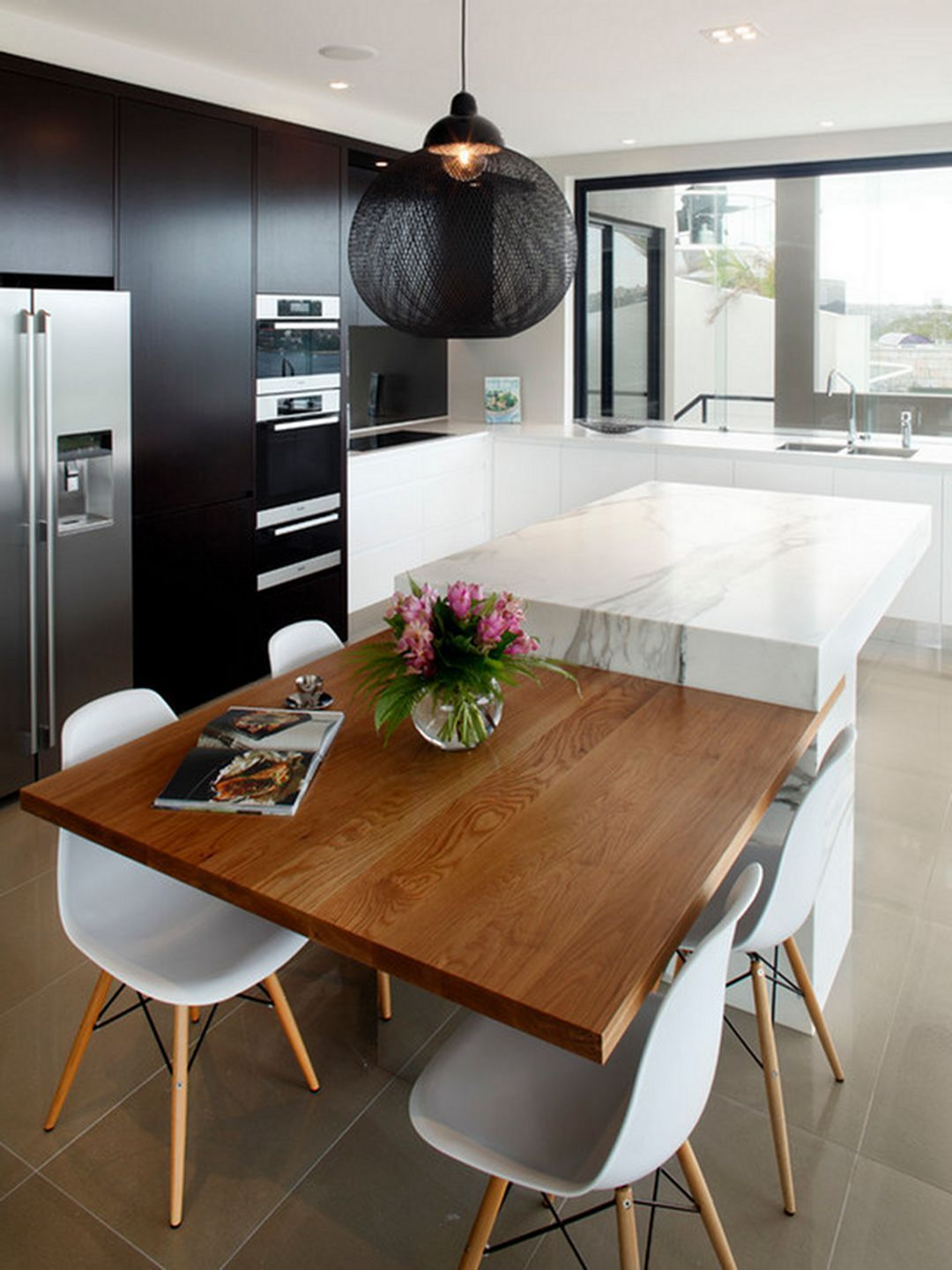 50 awesome minimalist kitchen for small space in your for Mesas de cocina modernas