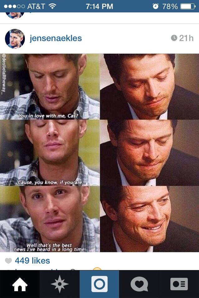THIS IS SO BEAUTIFUL BECAUSE LOOK AT CAS' FACE - HE LOOKS LIKE HE EXPECTS  DEAN'LL JUST WRITE HIS FEELING OFF OR MAKE IT CLEAR THAT HE DOESN'T FEEL THE SAME, BUT THEN AHDBAJEHFBDB