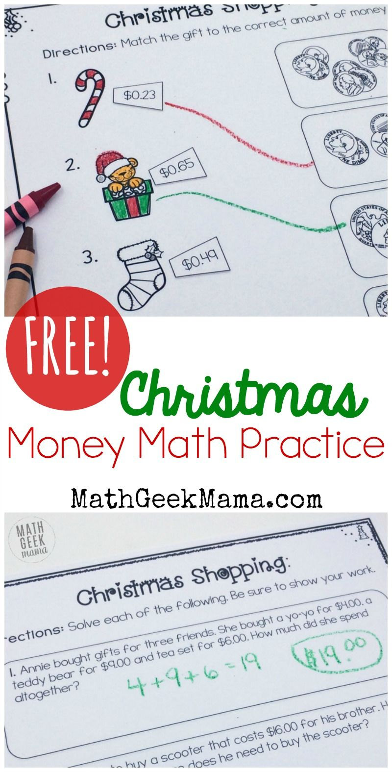 worksheet Money Practice Worksheets christmas shopping money math worksheets free skills word this adorable set of themed is perfect for kindergarten through first grade includes 2 pages