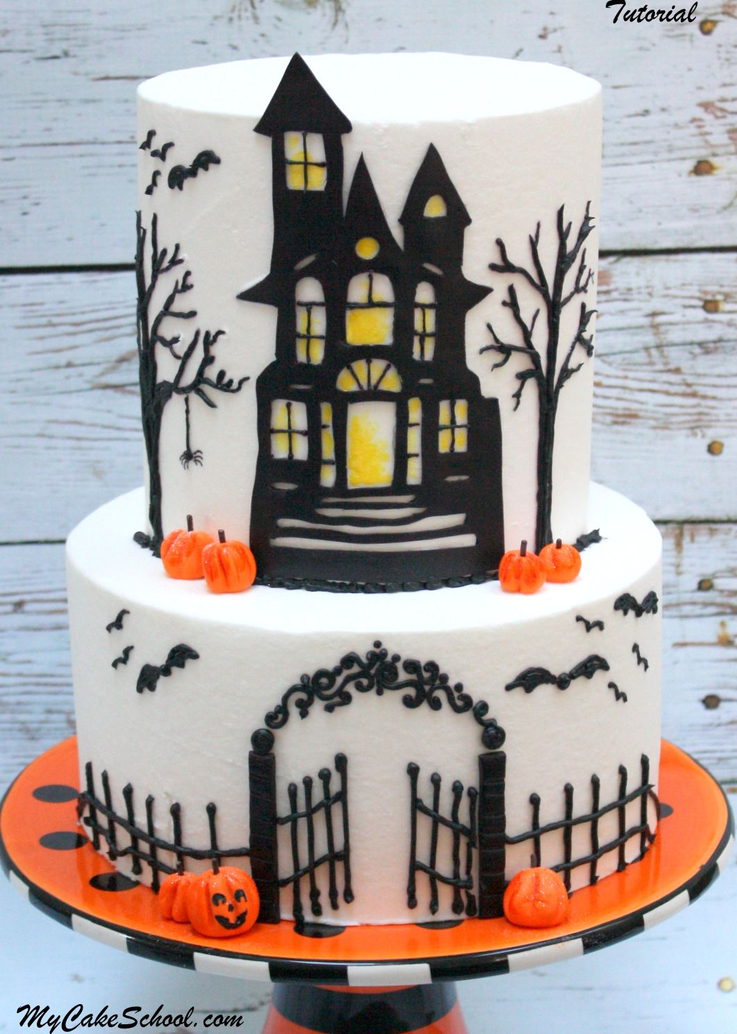 Haunted House Cake A Cake Decorating Video Tutorial Haunted