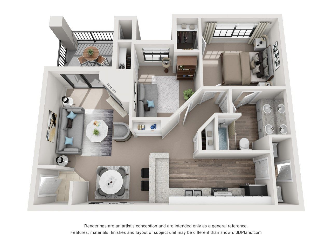 Pin by The Gio on One Bedroom (with a den) Floor Plans in