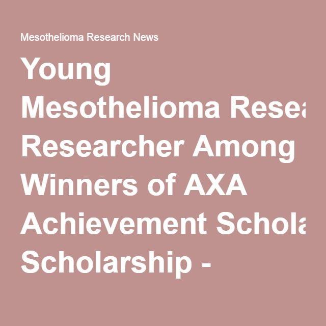 mesothelioma scholarship