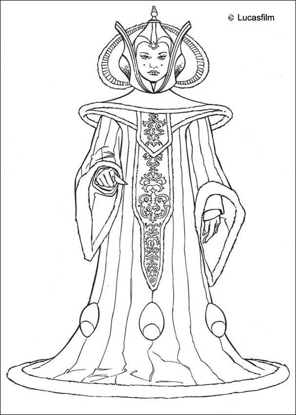 Coloriage de star wars de la reine amidala un coloriage in dit star wars pour tous les fans de - Coloriage star wars 3 ...