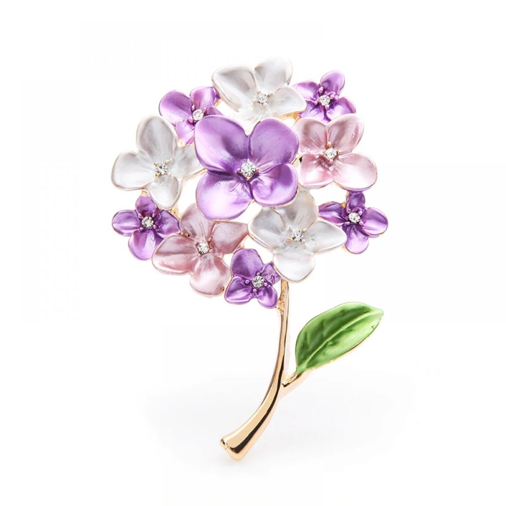 Wuli Baby Purple Red Blue Lilac Flower Brooches Women Weddings Party Brooch Pins Gifts Flower Brooch Lilac Flowers Red Blue