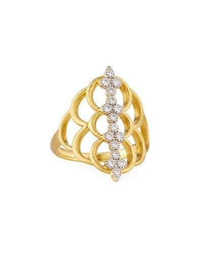 Jude Frances 18k Moroccan Doublet Oval Ring, Size 6.5