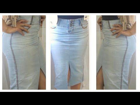 6718dcf2c9 DIY Transforma Un Pantalón En Una Falda Súper Bonita💓 - YouTube ...