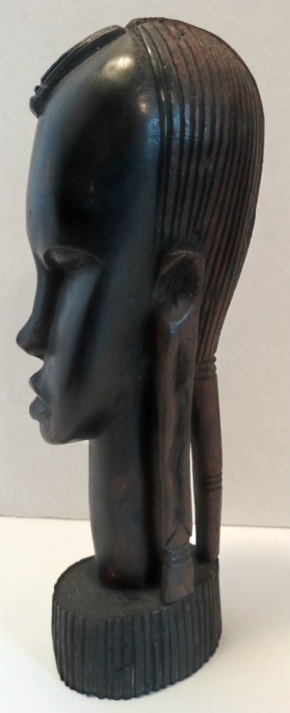 Kenya Africa Ebony Wood Statue FREE SHIPPING. Vintage African Carving Hand Crafted Sculpture