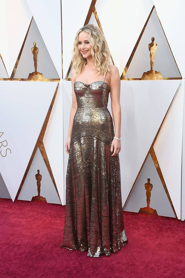 Jennifer Lawrence at the 90th Academy Awards ceremony, Los ...