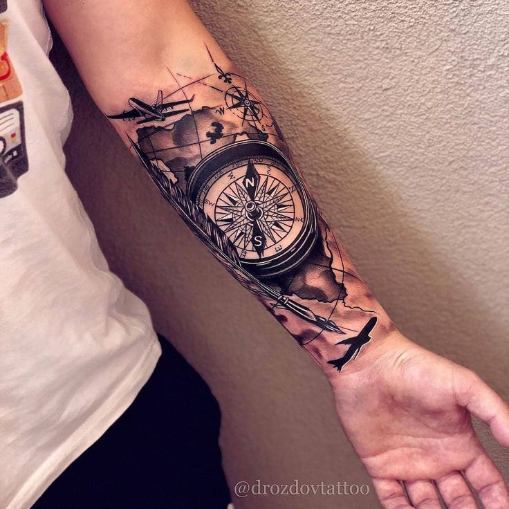 Clock Tattoo Ideas Golden Canvas Tattoo Art Studio Tattoos For Guys Tattoos Forarm Tattoos