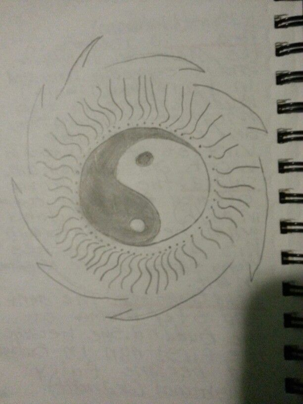 My friend and I drew this yin yang
