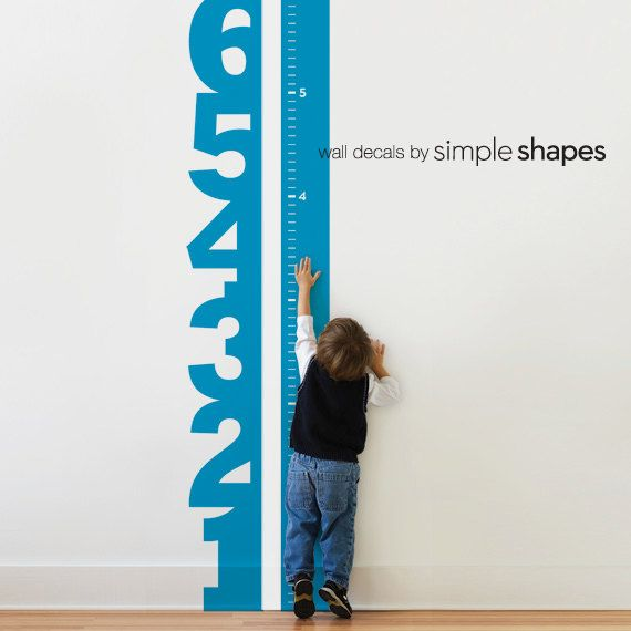 Growth Chart Numbers Childrens Vinyl Wall Decal Stuff Wall
