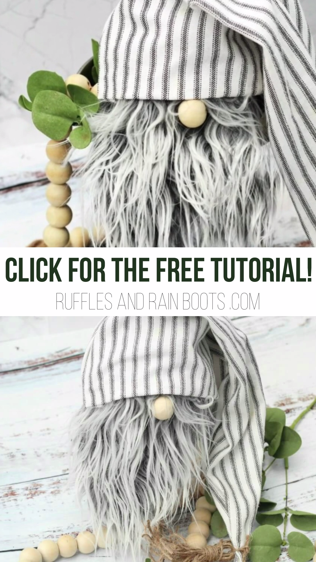 DIY Farmhouse Gnome in Only 20-Minutes – No Sewing!