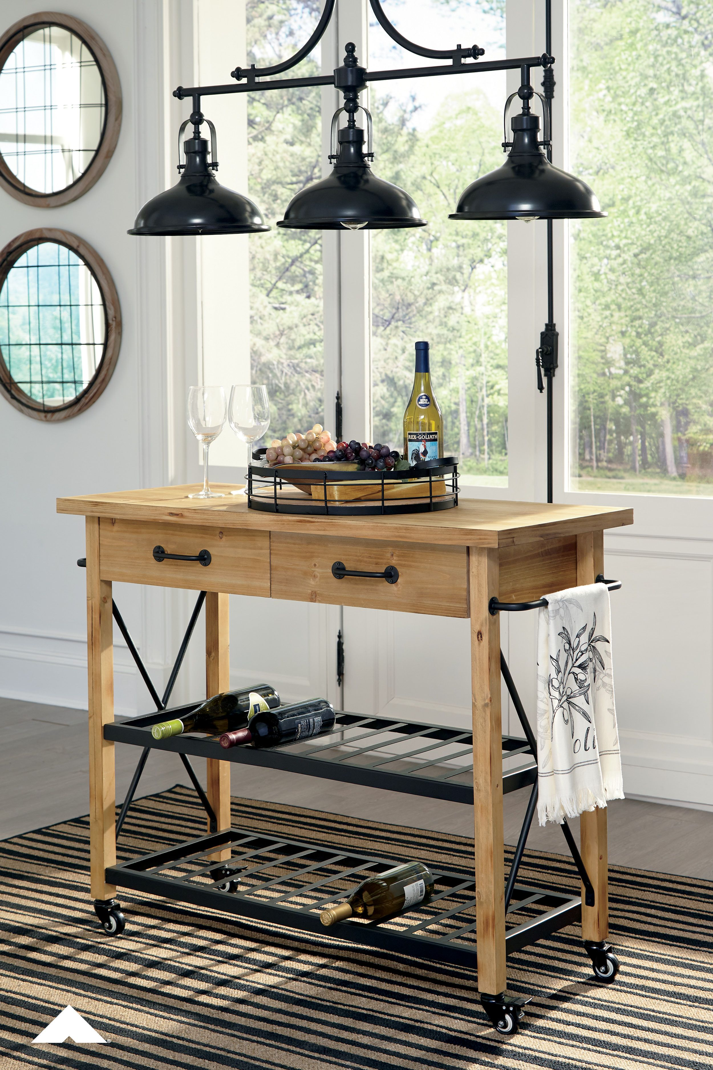 Marlijo Kitchen Cart Have An Appetite For Rustic Style And