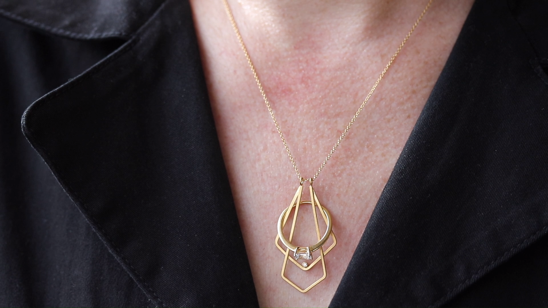 Double Deco Magic Ring Holder Necklace