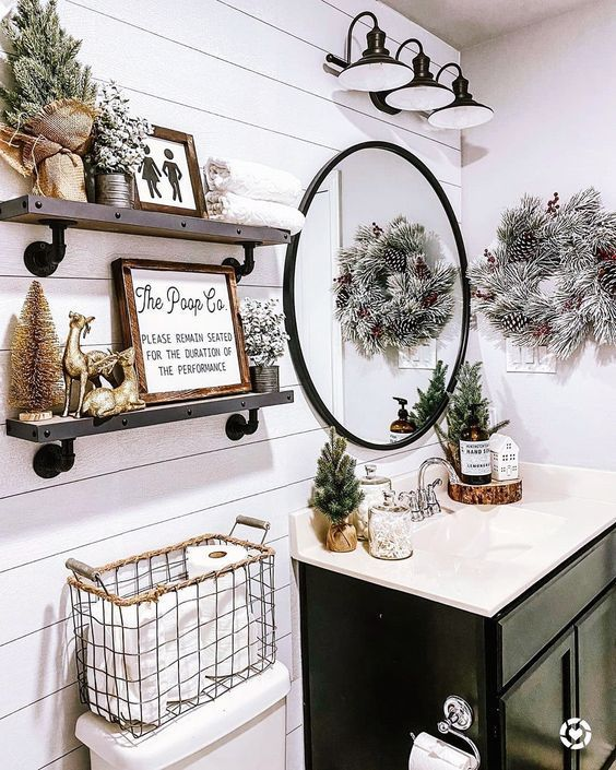 80 Farmhouse Christmas Home Decor Ideas for Every Room » Lady Decluttered
