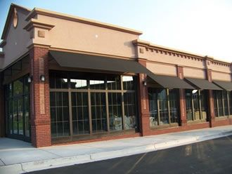 Commercial Awnings Metal Walkway