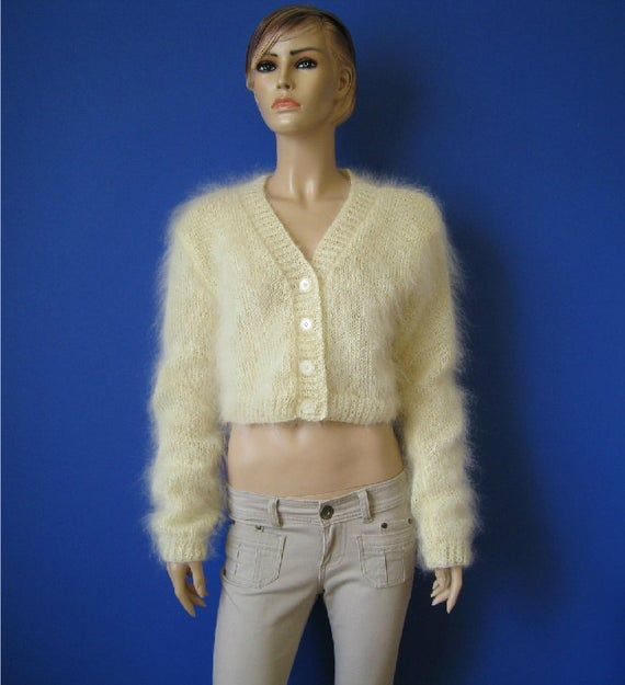 Made to order ! Hand knitted mohair bolero shrug sweater cardigan S M L #shrugsweater