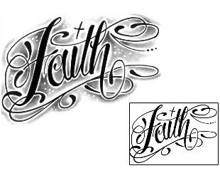 shaded faith script lettering tattoo aww shit