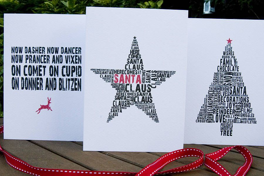 typographic christmas cards - Google Search | Typographic Designs ...