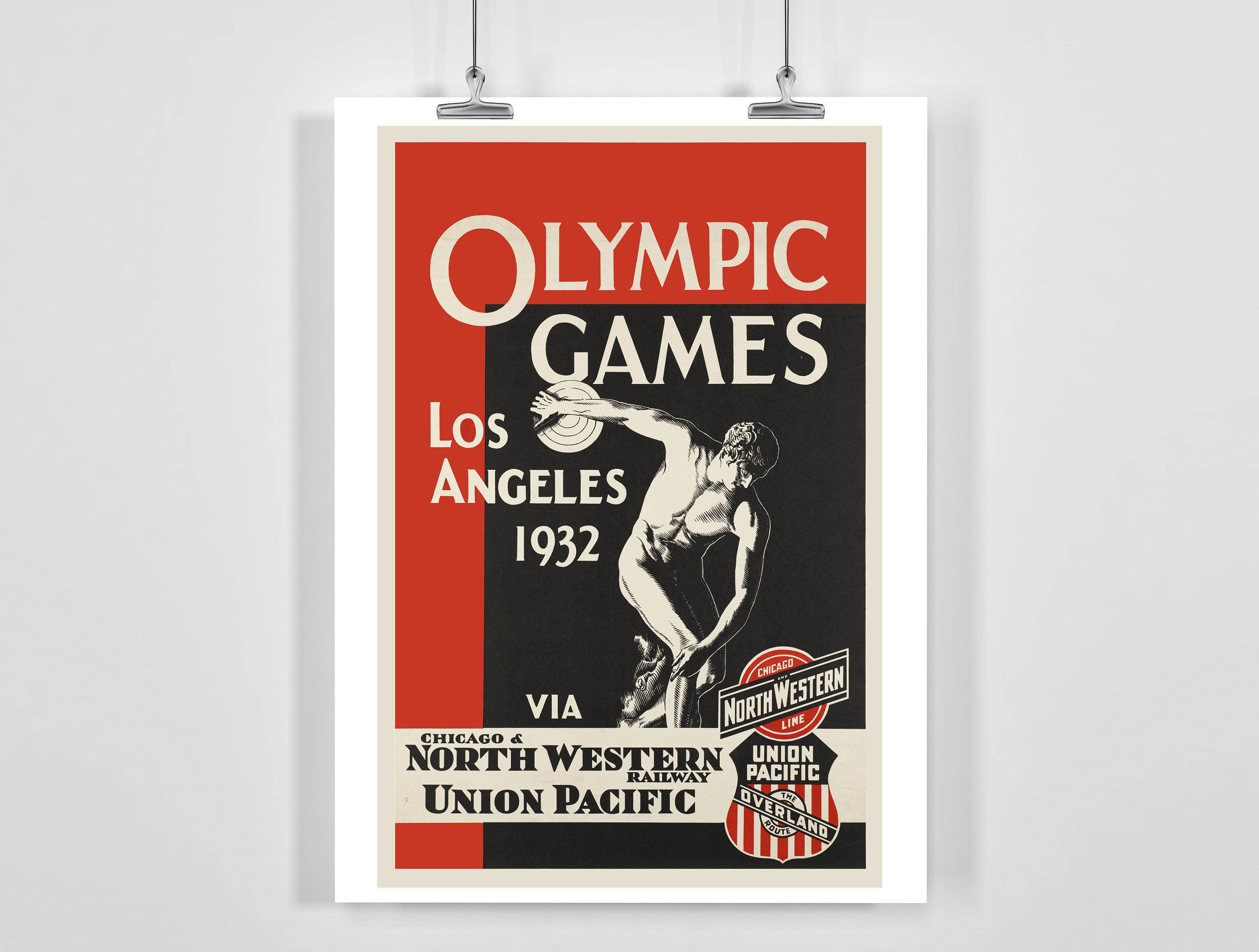 Los Angeles Olympic Games 1932 Vintage Sport Poster A4 Framed Unframed In 2020 Sport Poster Olympic Games Olympics