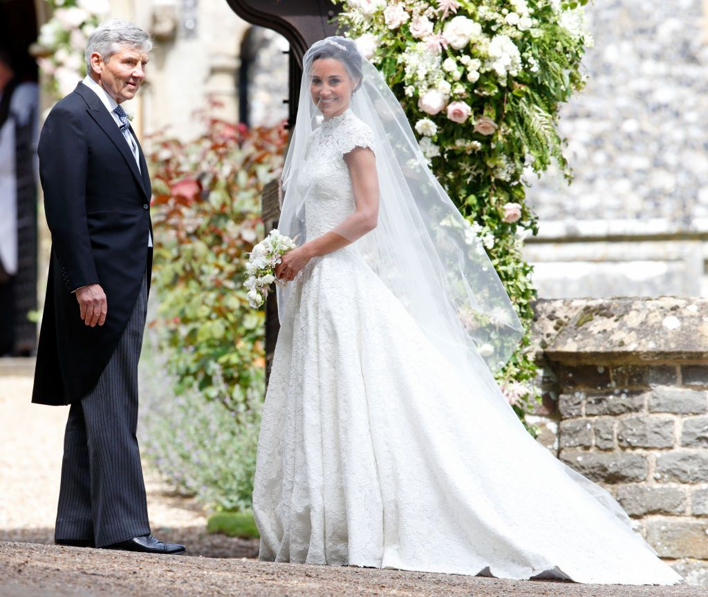 Michael Middleton and Pippa Middleton arrive at St Marks Church for