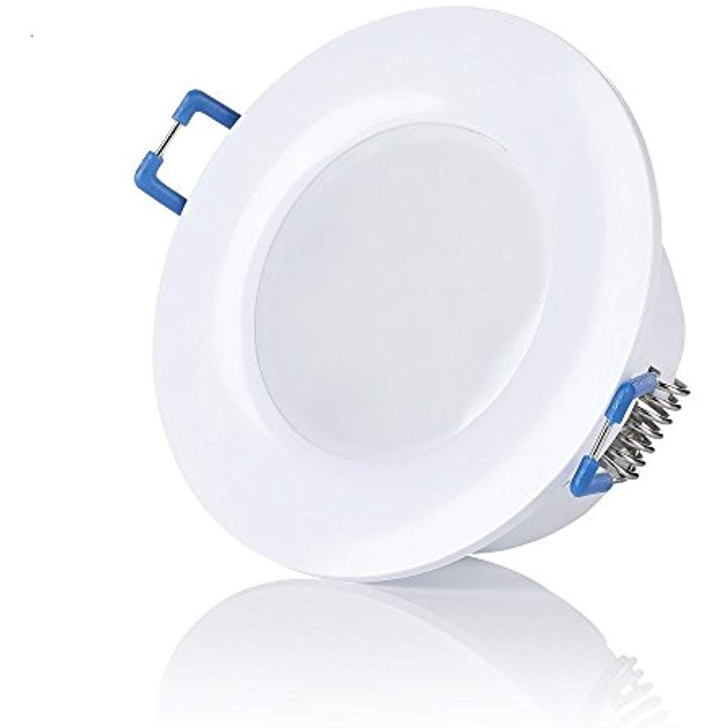Sweet Led Ip44 Led Bad Einbaustrahler 230v Ultra Flach 65w 650 Lumen Warmweiss Kaltweiss Rund Weissbad Einbauspots Einbaul Led Einbaustrahler Led Einbaustrahler