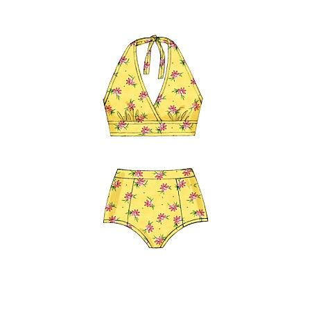 Misses Swimsuits McCalls Sewing Pattern No. 7168