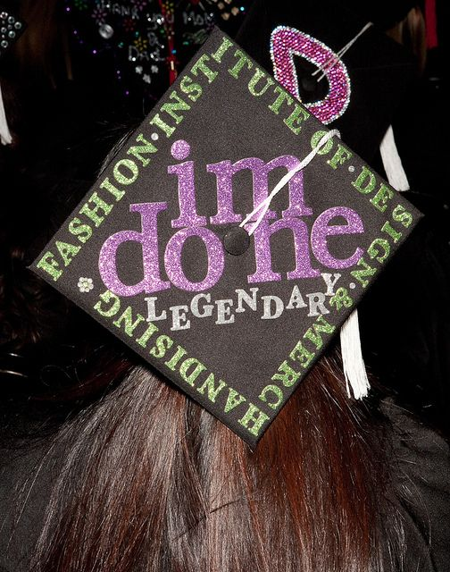 Fidm 2011 Graduation Decorated Mortar Boards Staples Center Los