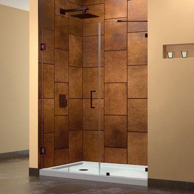 Dreamline Unidoor Lux 50 X 72 Hinged Frameless Shower Door Trim