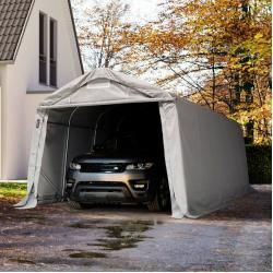 Photo of Zeltgarage 3,3×6,0 m – inkl. Statik, Pvc 550 g/m², grau Garagenzelt Toolport