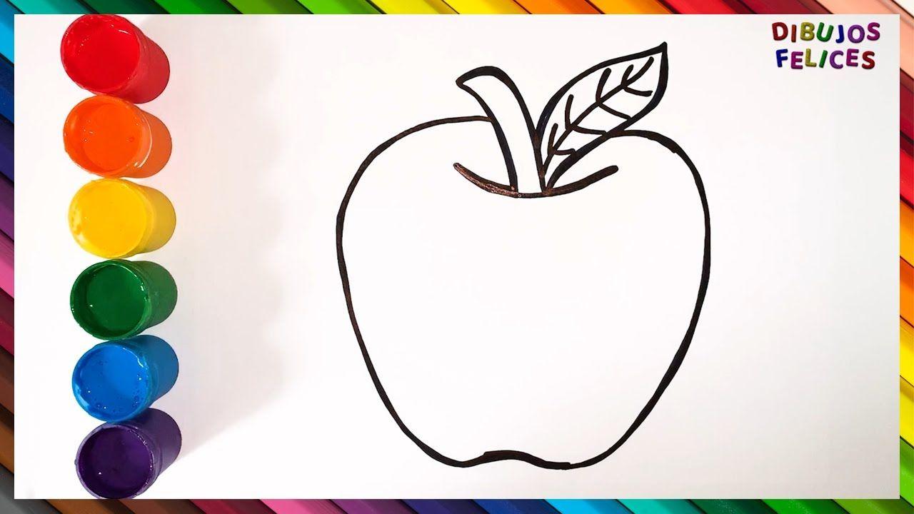 Como Dibujar Y Colorear Una Manzana Videos Para Ninos Learn Colors W Dibujos De Colores Dibujos De Frutas Ninos Gif