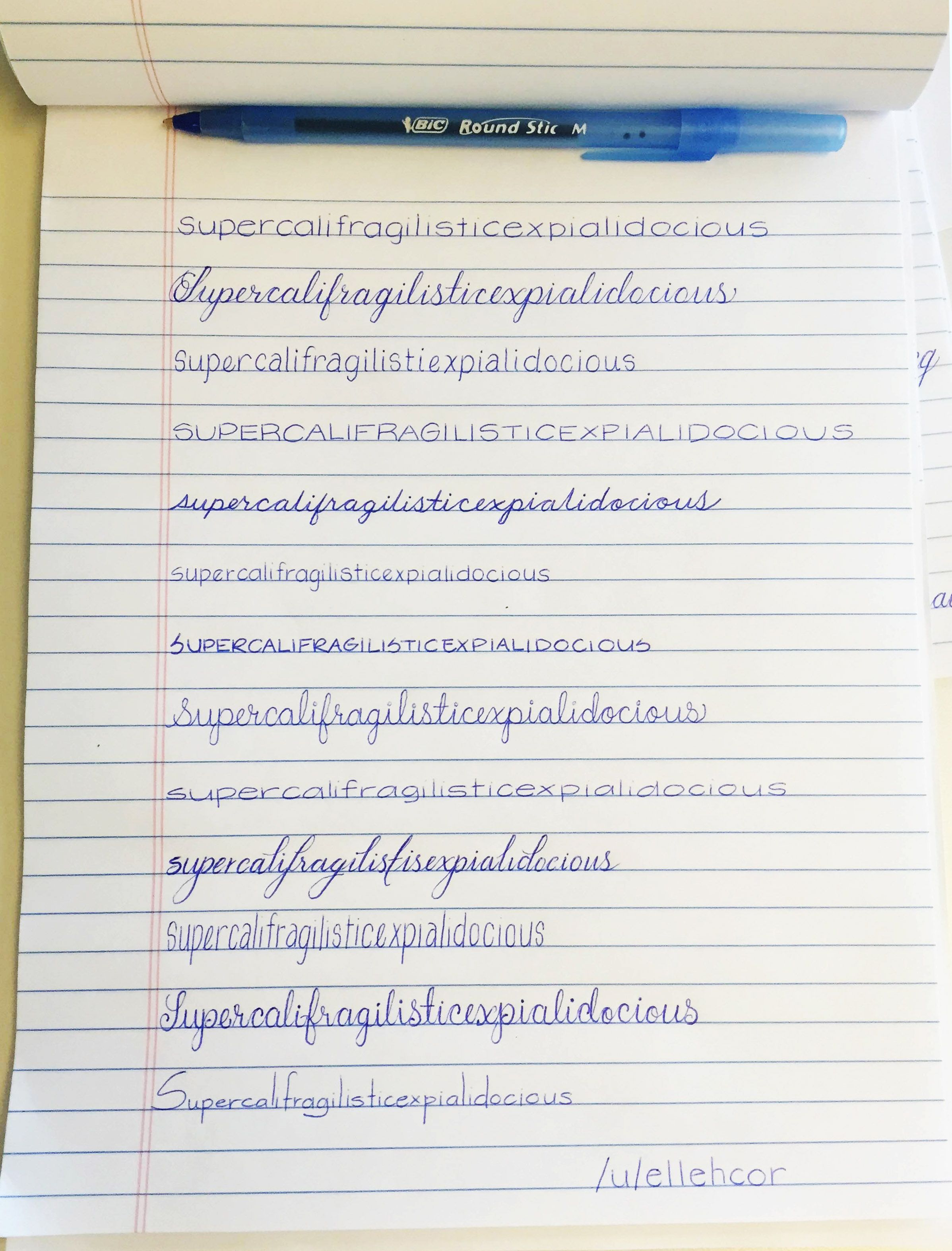 Testing Out Different Penmanship Styles
