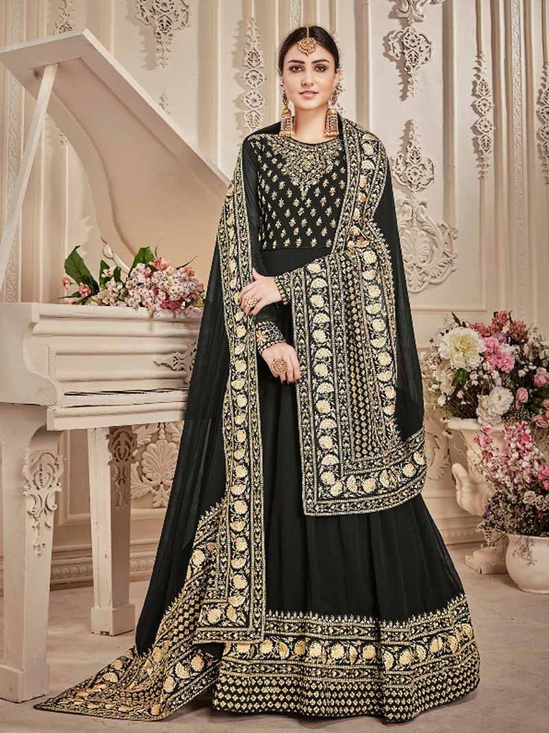 73c7d3a565 Black+Color+Indian+ethnic+Bridal+Party+wear+Designer+Pakistani+Anarkali +Suit+