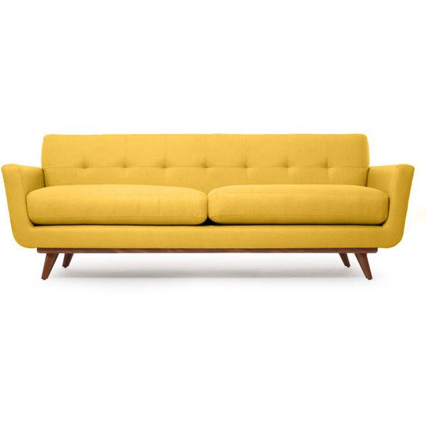 White Leather Sofa Thrive Nixon Sofa u CHF liked on Polyvore featuring home