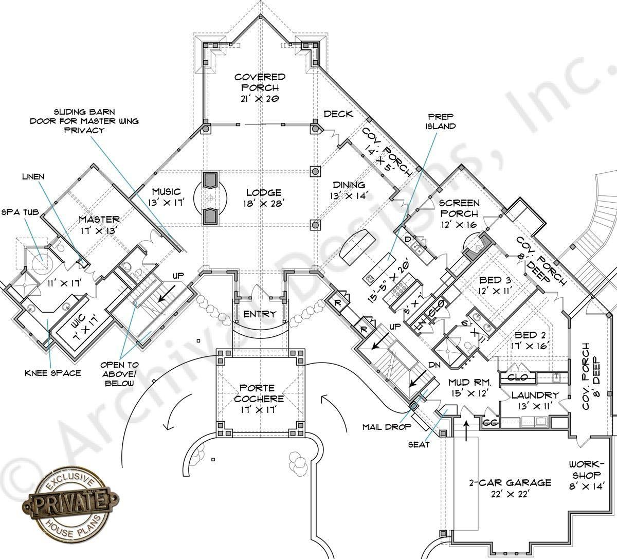 Lake Burton Lodge House Plan Custom Floor Plans Cabin Floor Plans Mountain House Plans