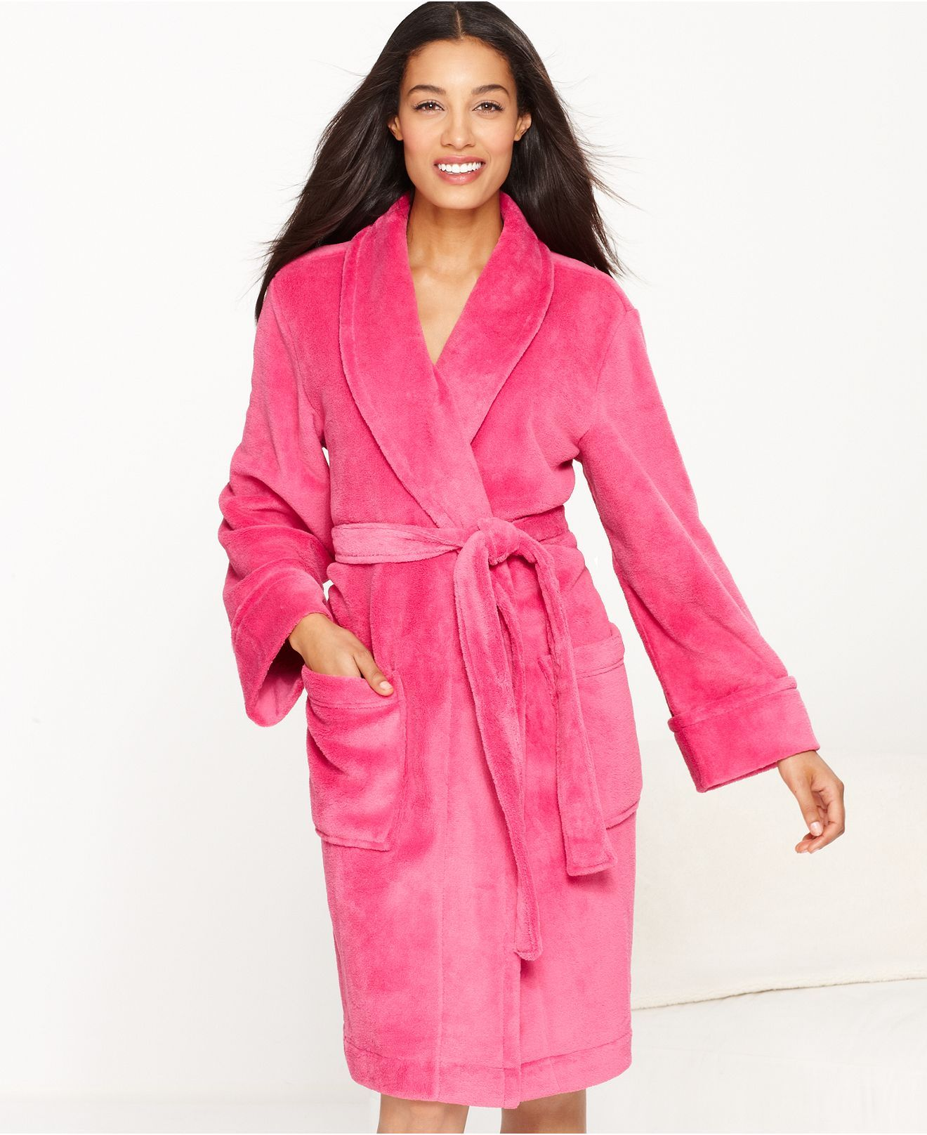1b22cccdcc Charter Club Supersoft Short Robe - Shop All Pajamas   Robes - Women -  Macy s