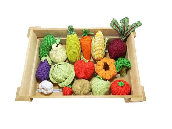Crochet knit vegetables fruits 16 pcs birthday gifts play food crochet knit vegetables fruits 16 pcs birthday gifts play food kids gift toys waldorf toys baby negle Gallery