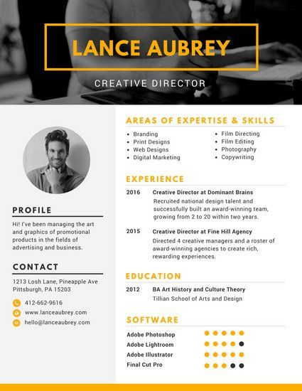 Pin by nutcracker on faa107 Pinterest Creative resume - director resume