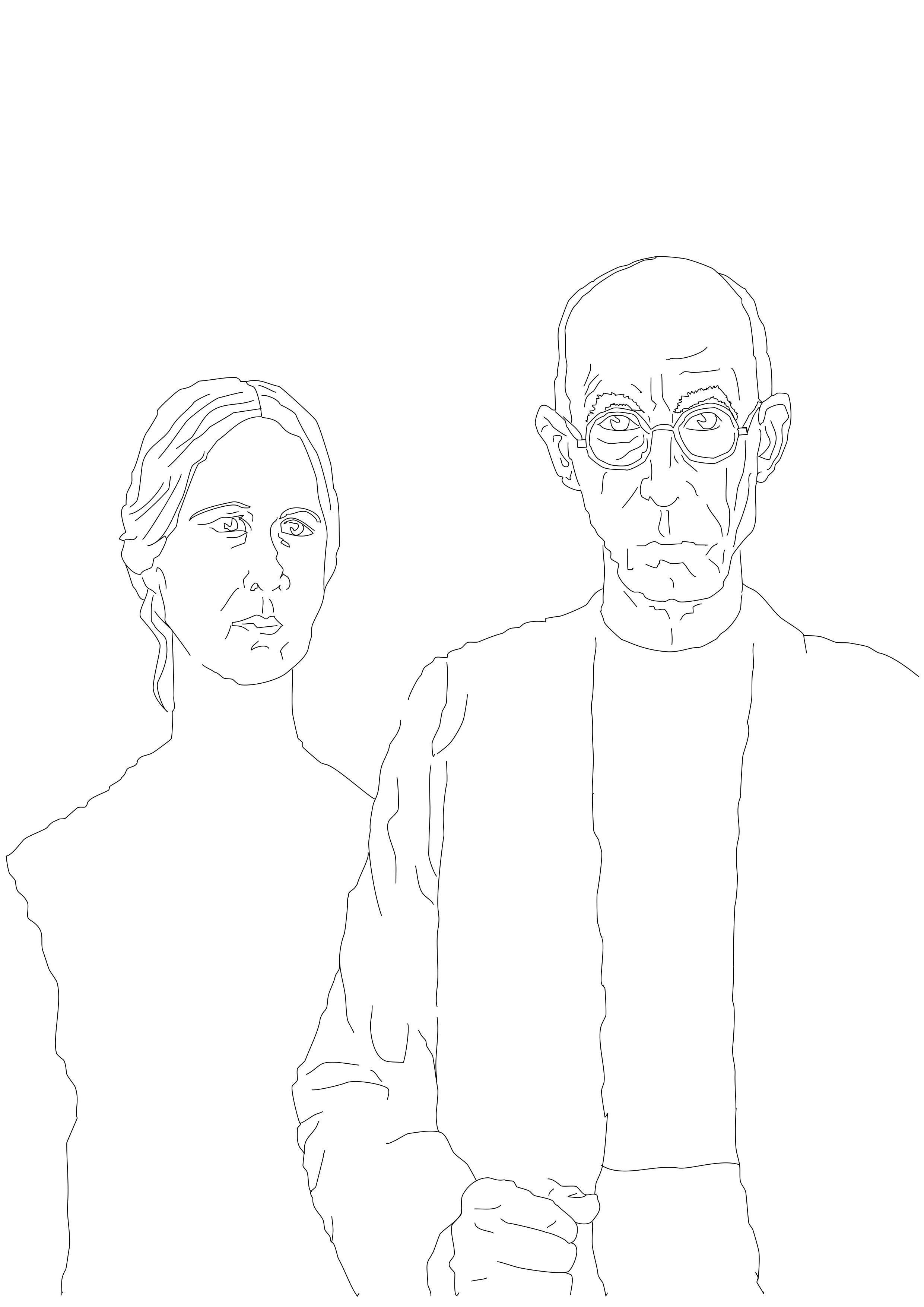 Simple American Gothic Outline Used As A Starting Point